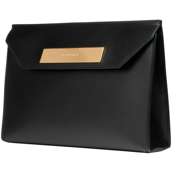 BALENCIAGA Balenciaga Cable Flap Clutch ❤ liked on Polyvore featuring bags, handbags, clutches, hand bags, balenciaga handbags, man bag, balenciaga and balenciaga purse