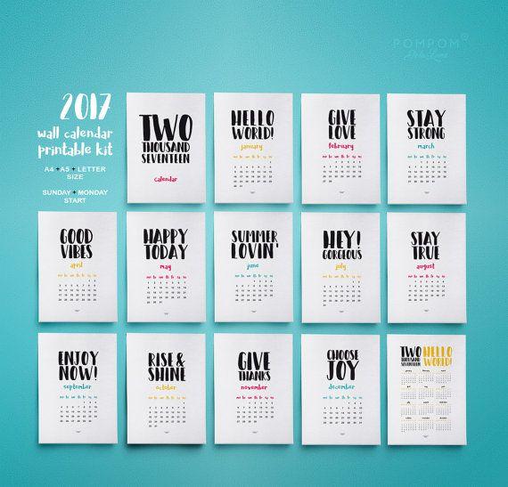 17 meilleures id es propos de calendrier 2017 pdf sur Grand calendrier mural 2017