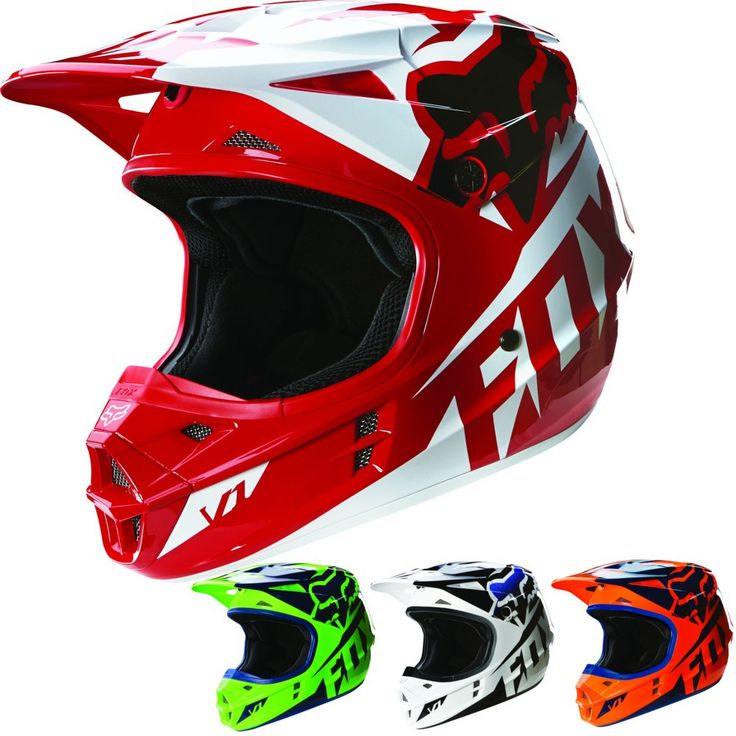 Fox Racing V1 Race Youth Dirt Bike Off Road Motocross Helmets