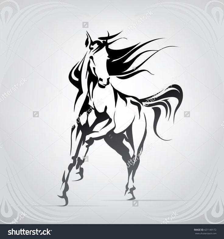 Silhouette of the running horse dibujos pinterest for Running horse tattoo