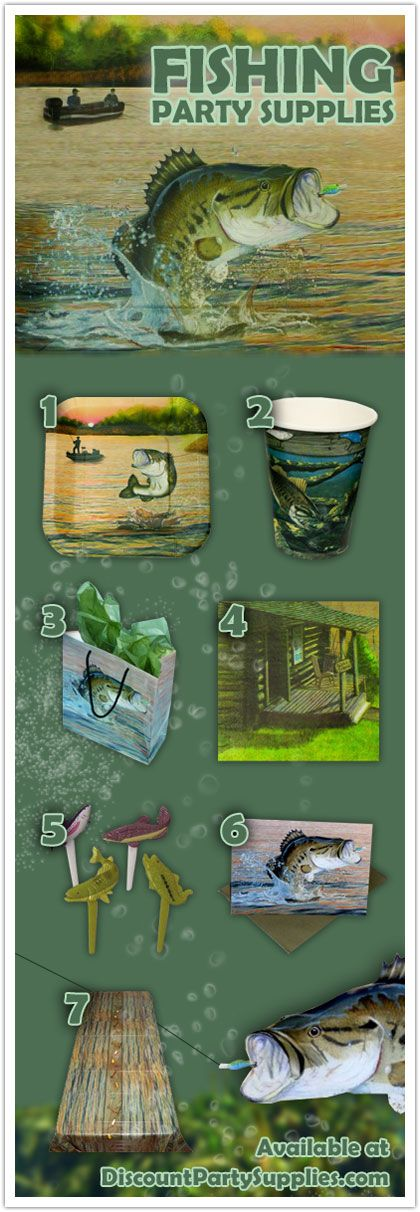 7 Favorites from our New Fishing Party Supplies Theme - featuring everyone's favorite freshwater fish the bass!