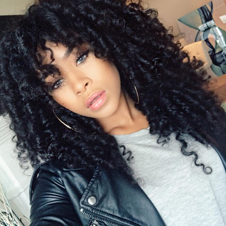 Curly Hair Crochet Styles : Full size crochet braid hair extensions for short hair afro kinky