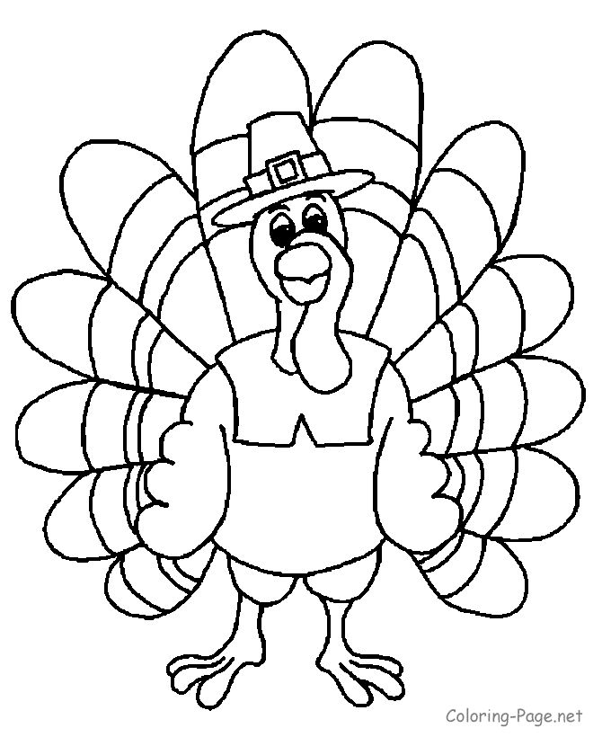 Thanksgiving coloring pages thanksgiving turkey 1