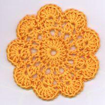 Flower Coaster pattern. Diagram here http://www.loriz.ca/craft/crochet_flower.pdf: Coaster Patterns, Cotton Coaster, Kimberlys Flower, Crochet Coasters, Crochet Knit Embroidery, Crochet Techniques Patterns, Patterns Crochet, Crochet Patterns, Crochet Embroidery