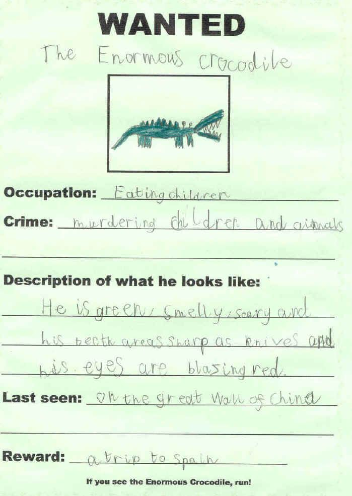 Enormous Crocodile-wanted poster