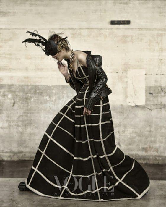 Vogue Korea Title: Couture Grunge Model: Lee Hye Jung  Sera Park Photographed by Koo Bon Chang October 2013