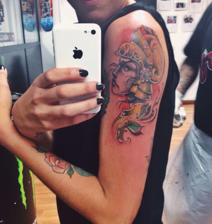 Tattoo time, warrior