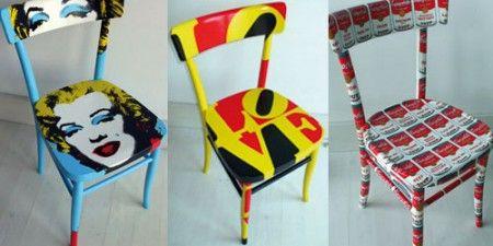 Decorare vecchie sedie: arte contemporanea