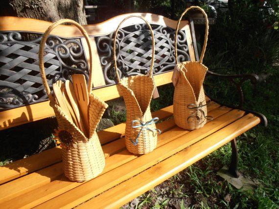 Three Ginny Designed Handwoven Handmade VNeck by GinnyDareBaskets, $39.00