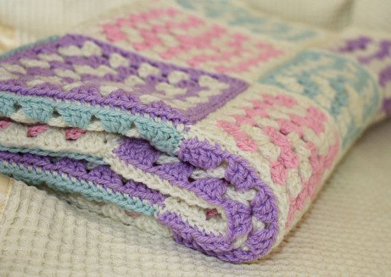 Great For Baby Showers Is This Crocheted Baby Blanket