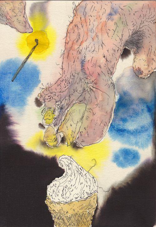 K. Gatavan. Funnel. Watercolor, pen and ink, 2016. #Conceptual Art #концептуальное искусство #Arte concettuale #Art conceptuel #Arte conceptual #Konzeptkunst ?? - https://wp.me/p7Gh1Z-2M2 #kunst #art #arte #sztuka #ਕਲਾ #konst #τέχνη #アート