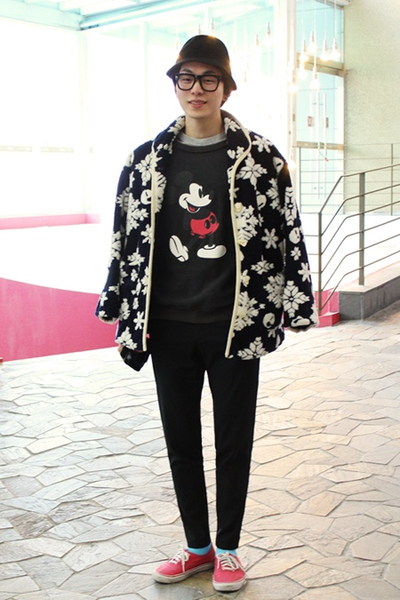 snow flake jacket, men fashion, street style of korea, www.seoulthespot.com