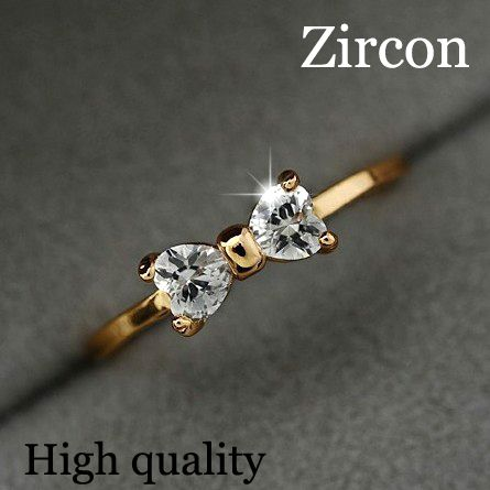 Austria Crystal rings Gold Plated finger Bow ring wedding engagement Zircon Crystal Rings women jewelry wholesale