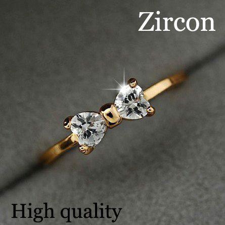 זול 17 KM אוסטריה קריסטל Bow טבעת אצבע טבעות צבע זהב סיטונאי תכשיטי נשים טבעות גביש חתונת האירוסין זירקון, לקנות איכות טבעות ישירות מספקי סין: