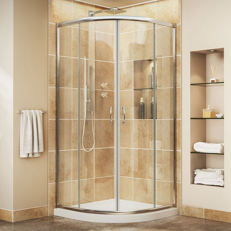LITTLE BIG LIFE: Great shower wall kit! I love the round door!