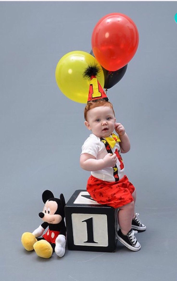 Cake Smash Mickey Mouse Outfit with SHORTS for by CuteAsClaire