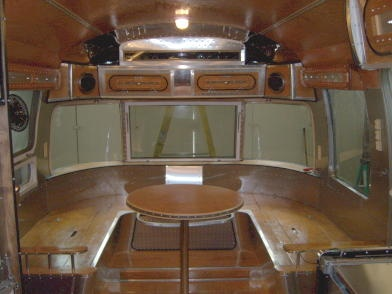 10 best images about airstream wrap around seating on - Airstream replacement interior panels ...