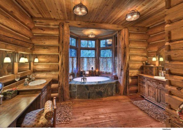 40 rustic bathroom designs log cabin - Log Cabin Bathroom Designs