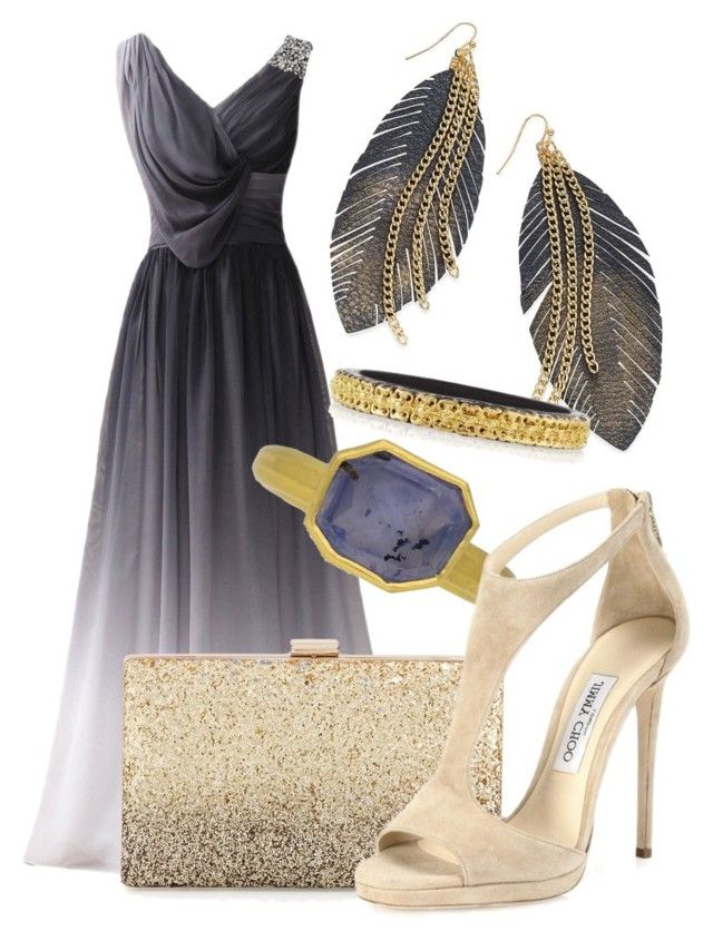 5 by ivette-morales-1 on Polyvore featuring moda, Jimmy Choo, Neiman Marcus, Armenta and Thalia Sodi