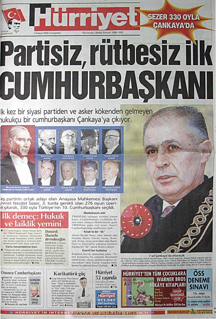 Hürriyet gazetesi 6 mayıs 2000