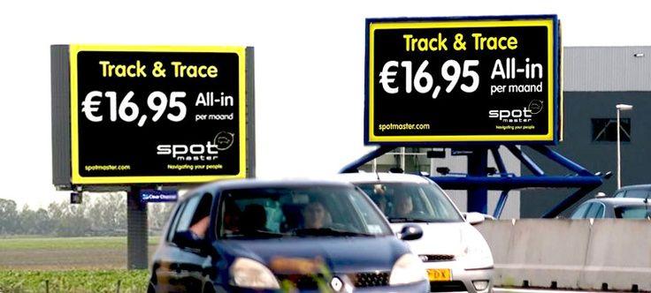 Spotmaster: ontwerp billboard. Plaatsing A4 Haarlemmermeer en A12 Waddinxveen. Plaatsing door Clear Channel Hillenaar.