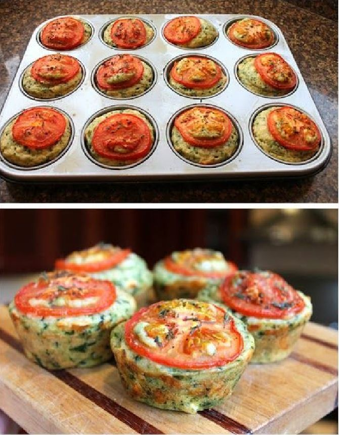 Cheesy Spinach Muffins | Foodqik