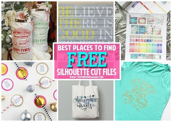 A list of the BEST places to find free cut files for your Silhouette CAMEO, Portrait, Curio, and Mint! If you have a Silhouette CAMEO, Portrait, Curio or Mint chances are you love to make cute craf…