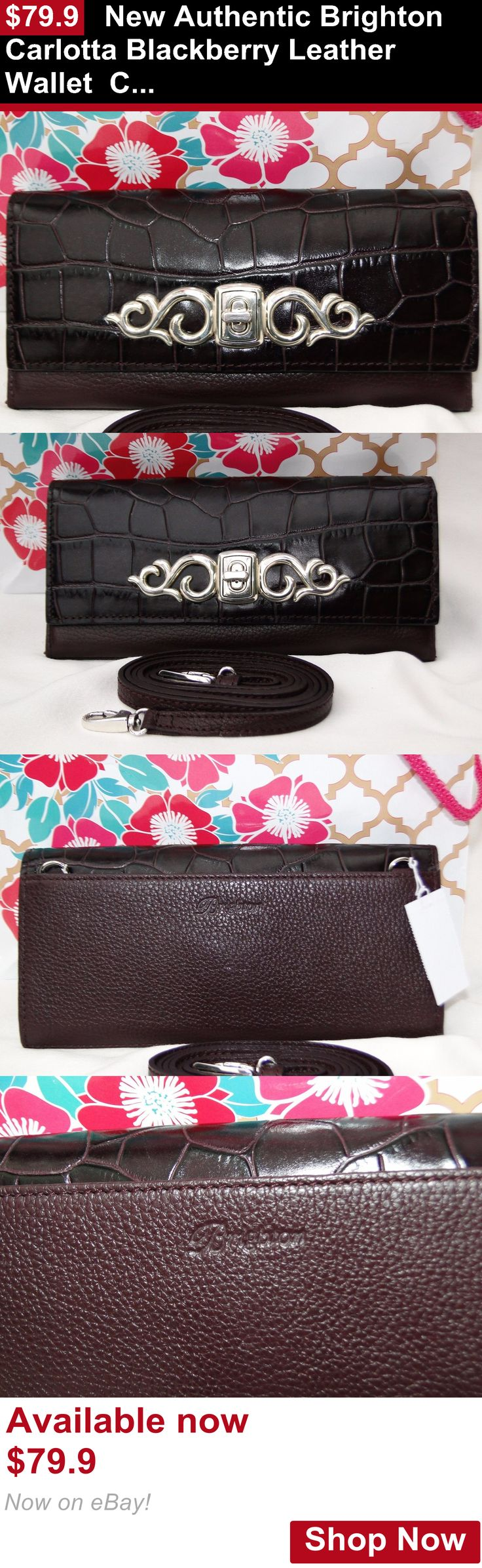 Women accessories: New Authentic Brighton Carlotta Blackberry Leather Wallet Clutch Crossbody BUY IT NOW ONLY: $79.9
