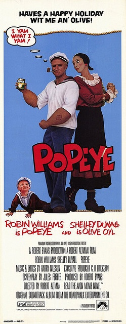 """Popeye"": I saw it when it come out in theaters! } I will still watch this when it comes on tv!"