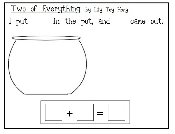 two of everything math activity - Google Search