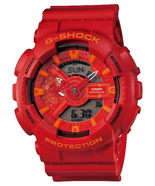 Casio G-Shock GA-110 Adding metal elements and G-Shock's heritage black & red coloring to the already popular GA110 X-Large G, one can bet on this model becoming a huge success. Its case has powerful presence and shock resistant, anti-magnetic structure confirms its toughness. There's a reason why G-Shock is know as The Toughest Watch in …