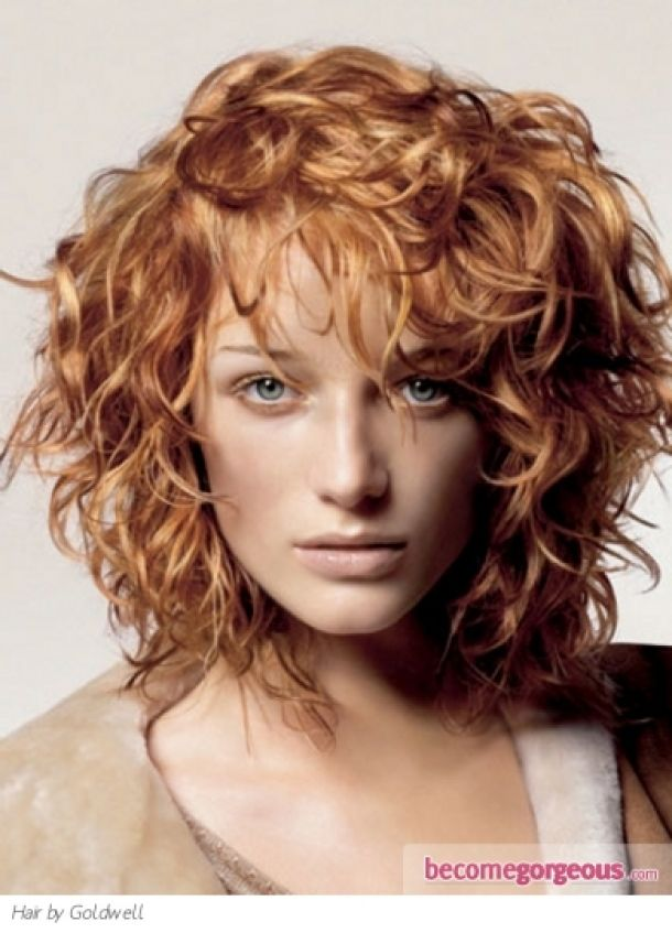 Medium Curly Shag Haircutsginger Curly Hair Style Medium Long Hairstyles  Pictures Free Gwkyb
