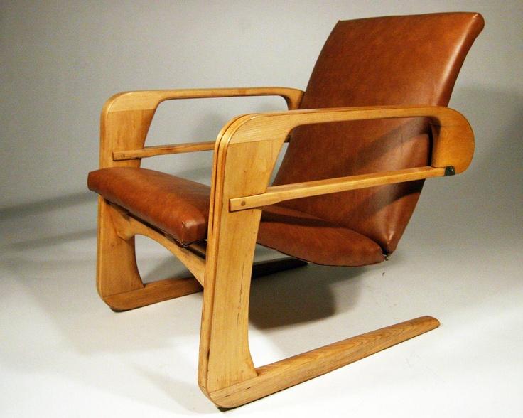 Original 1934 Art Deco Modern Kem Weber Airline Chair | Antiques:Furniture:Chairs:1900-1950 | JPEGbay.com