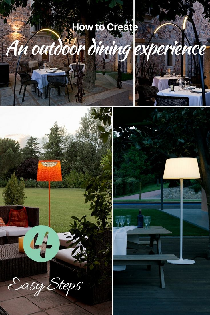 Warm nights, subtly lit to create the perfect environment for evening dining in the garden. How to create an outdoor dining experience with contemporary one-of-a-kind lighting proposals including portable and LED outdoor lamp collections.
