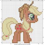 Applejack Cross Stitch Chart by mylittlecscharts.deviantart.com on @deviantART