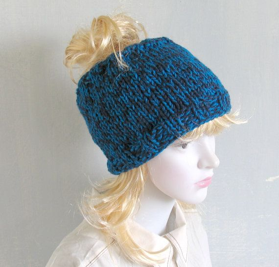 Tube Hat Dreadlocks Headband Wrap Blue Melange by recyclingroom