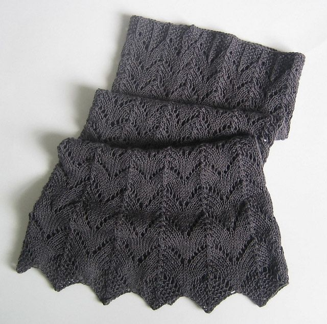 MES FAVORIS TRICOT-CROCHET: Modèle tricot gratuit : Un col au point dentelle