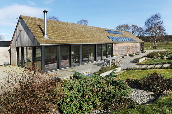 The Sutherlands have used cedar shingles for their roof, which - together with the structure - cost £17,000