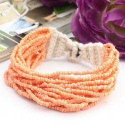 La semence d'orange perle + laine tricotée perles bracelet
