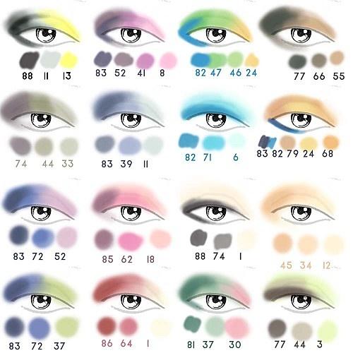 idee makeup occhi: Colorful eyeshadow ideas