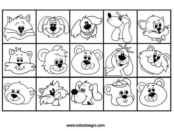15 contrassegni con animali da colorare