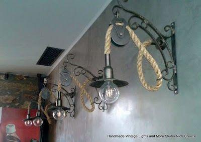 STUDIO NIOTIS: Χειροποίητα vintage φωτιστικά στο Barbeque στο Αιγ...