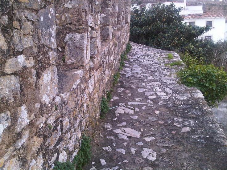 Castle ramparts at Obidos