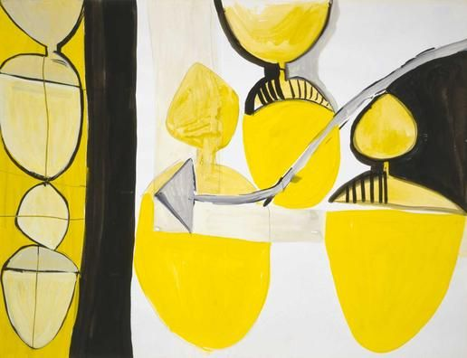 Eva Hesse, 1936-1970  Untitled, 1964 gouache, ink, watercolor and graphite on paper Museum of Fine Arts, Houston
