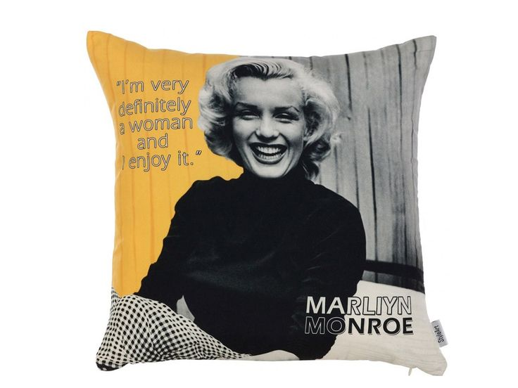 Использование изображения Мерилин Монро в интерьере - это возможность привнести в женственность, звездность, голливудский гламур и атмосферу 50-х годов. С такой задачей отлично справляется декоративная подушка Мерилин-2.