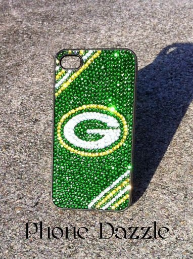 Green Bay Packers Rhinestone iPhone Case. $45.00, via Etsy.