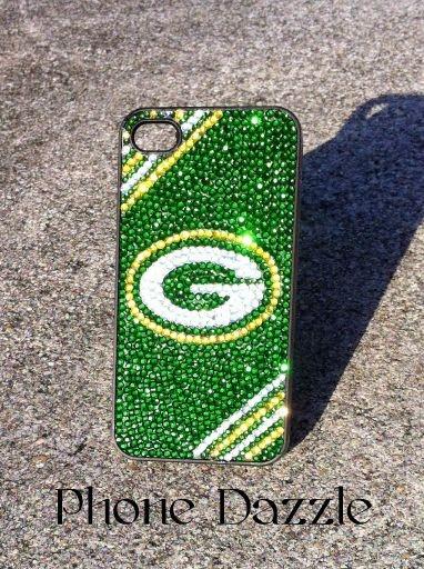 Green Bay Packers Rhinestone iPhone Case by winedazzle on Etsy, $45.00 AWWWWWWWWWWWW I want this so bad