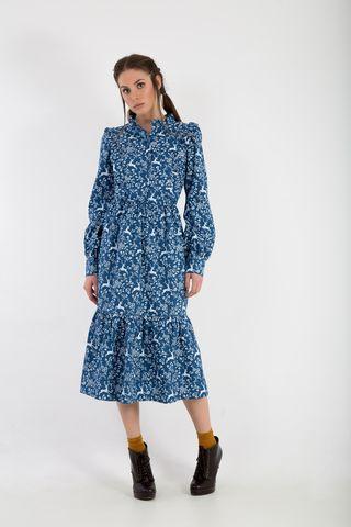 deer print dress front
