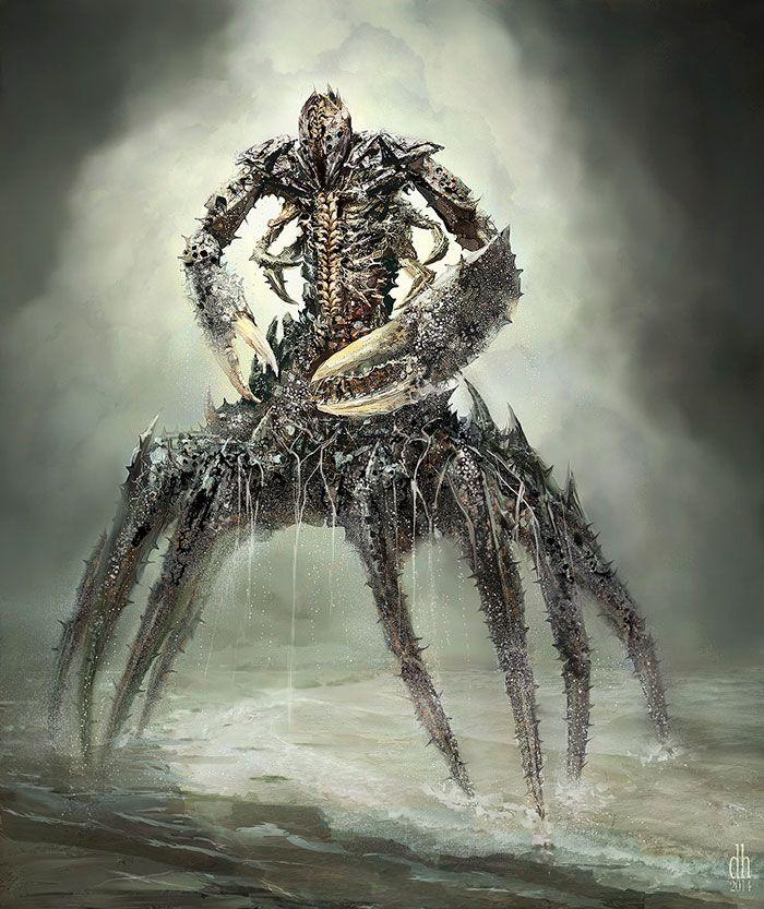 Cáncer: Los 12 Signos Del Zodiaco Reconvertidos En Monstruos Terroríficos, Por Damon Hellandbrand. http://www.dhellandbrand.com/home.html