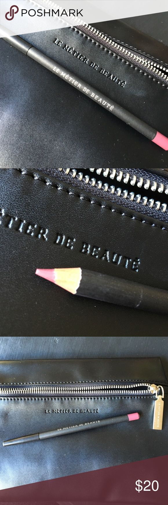 Le Metier De Beaute lip pencil in Reign Brand new. This color is also new for fall, raspberry plum. A sultry mauve. Gorgeous, rich, and striking. Retails at Neiman Marcus for $36. Le Metier De Beaute Makeup Lip Liner